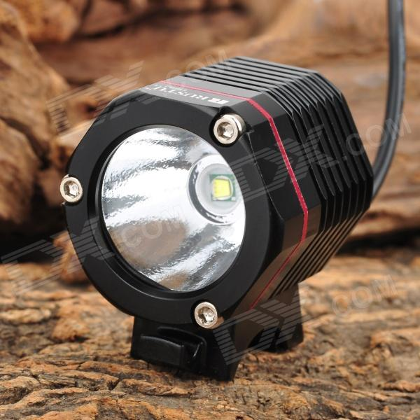 RUSTU D66J 410lm 4-Mode White Bicycle Light Headlamp w/ Cree XM-L T6 - Black (4 x 18650) cree xm l t6 bicycle light 6000lumens bike light 7modes torch zoomable led flashlight 18650 battery charger bicycle clip