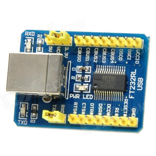 FT232RL USB 2.0 to Serial Port Converter Module - Blue + Yellow rs232 to rs485 interface communication connector serial port converter driver grey green
