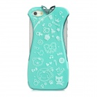 Stylish Cheongsam Shape Electroplated Plastic Back Case for iPhone 5 - Green