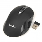 Indena G-189 Wireless 2.4GHz USB 1000 / 1200 / 1600dpi Optical Mouse - Black