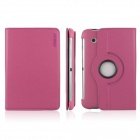 ENK-7009 360 Degree Rotating Protective PU Leather Case Cover for Samsung P3100 / P3110 - Deep Pink