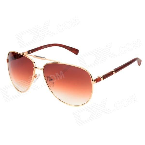 CARSHIRO Z626-C5 Men's UV400 Protection Zinc Alloy + PC Frame Resin Lens Sunglasses - Tan retro women sunglasses polarized driving sun glasses with pc metal hinge shades uv400 protection gafas de sol mujer 4 colors