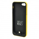 2500mAh Backup Battery Case for iPhone 5 - Yellow