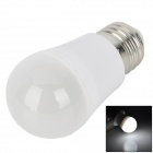 E27 3W 200lm 6500K 24-SMD 3528 LED White Light Lamp Bulb - White + Silver (90~260V)