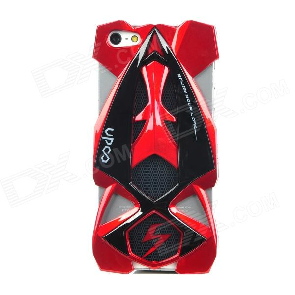 Cool F1 Racing Car Style Protective Plastic Back Case Cover for Iphone 5 - Red cool skull head style protective soft silicone back case for iphone 4 4s pink