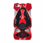 Cool F1 Racing Car Style Protective Plastic Back Case Cover for Iphone 5 - Red