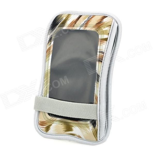 Protective Diving Fabric Bag for Iphone Samsung Galaxy S / SII - White + Olive + Khaki