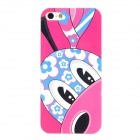Cute Giraffe Loew Pattern PC Protective Back Case for Iphone 4 / 4S - Pink + Blue