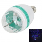 E27 9W 150lm 3-LED RGB Light Stage Lamp Bulb - White + Blue (85~265V)