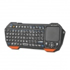 Mini Bluetooth V3.0 76-key Keyboard w/ Built-in Touchpad for Cellphones / Tablets + More - Black