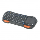 Mini Bluetooth V3.0 teclado de 76 teclas com Touchpad integrado para celulares / tablets + mais - preto