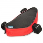 ROSWHEEL Outdoor Portable Triangular Bicycle Tools Bag - Red + Black