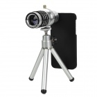 Universal 3-in-1 Fisheye + Wide Angle + Macro Lens Set for Iphone 5 - Silvery White + Black