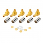 MMCX-JW-1.5 Gold Plating Brass Coaxial Connector Adapters - Golden (5 PCS)
