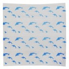 S-12214 Dolphin Pattern Waterproof Shower Curtain - White + Blue