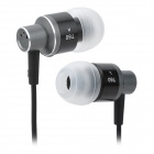 Genuine CoGoo!! T60 Stylish In-Ear Earphones - Black + Grey (3.5mm Plug / 126cm)