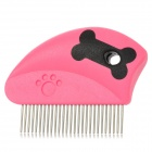 PT13472 Mini Portable Pet Grooming Comb for Dog / Cat - Deep Pink + Black + Silver