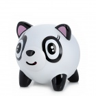 Funny Stretchy Tongue Stress Release Squeezable Panda Doll Toy w/ Sound Effect - Black + White