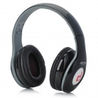 Ditmo DM-4900 Foldable Wired 3.5mm Plug Stereo Headset Headphones w/ Microphone for Iphone 5 - Black