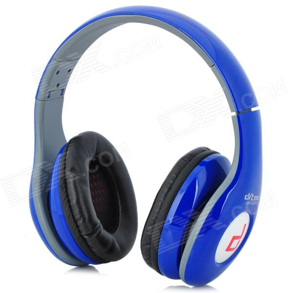 Ditmo DM-4900 Foldable Wired 3.5mm Plug Stereo Headset Headphones w/ Microphone for Iphone 5 - Blue stylish headset w microphone volume control for dell mini 5 streak 3 5mm jack 120cm cable