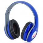 Ditmo DM-4900 Foldable Wired 3.5mm Plug Stereo Headset Headphones w/ Microphone for iPhone 5 - Blue