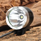 RUSTU DR20 Cree XM-L T6 440lm 3-Mode White Bicycle Light Headlamp - Black + Silver (4 x 18650)