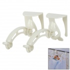 576 Universal ABS Garbage Waste Bag Clip Holder - White (2 PCS)