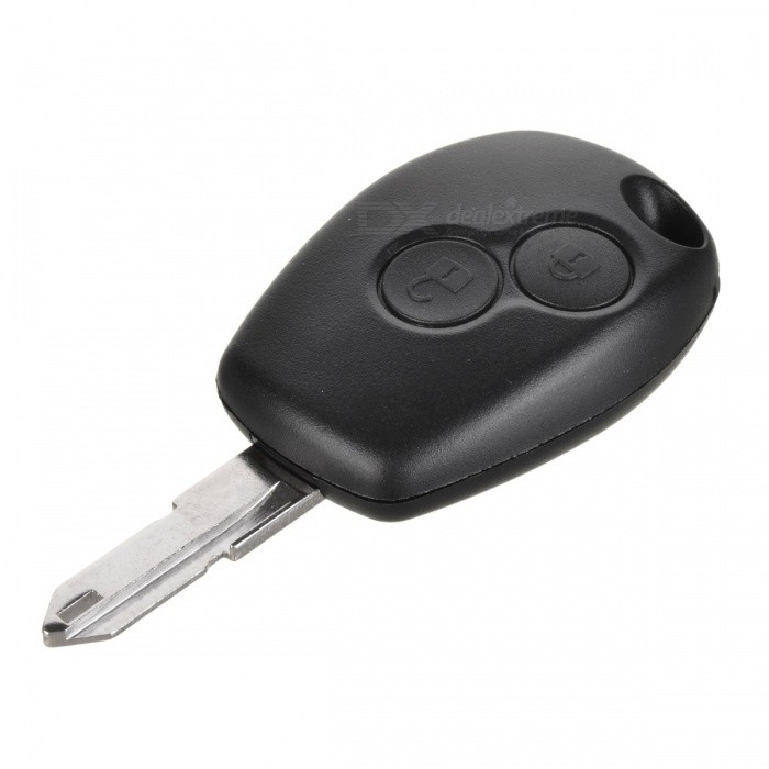 AML030321 2-Key Chip Reinstalled Remote Key Case - Black + Silver