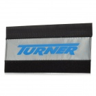 TURNER Diving Fabric Bicycle Chainstay Protector Pad w/ Velcro - Black