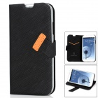 BASEUS Protective PU Leather Case for Samsung Galaxy S4 i9500 - Black