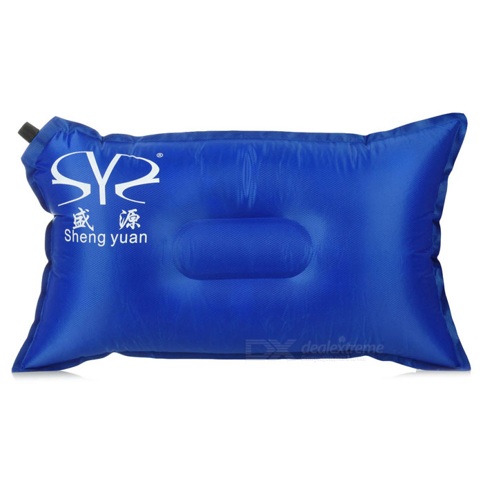 Shengyuan SW3001 Outdoor Auto Air Inflatable Cushion Pillow for Traveling - Blue