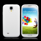 Protective Soft Silicone Back Case for Samsung i9500 - White