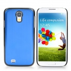 Protective Aluminum Alloy Back Case for Samsung Galaxy S4 i9500 - Blue + Black