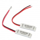 144W LED Amplifier for RGB Light Strip - White + Red + Black (2 PCS)