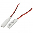 3-Key-Controller für SMD-LED 5050/3528 SMD LED / RGB LED Light Strip - White + Red + Black (2 PCS)