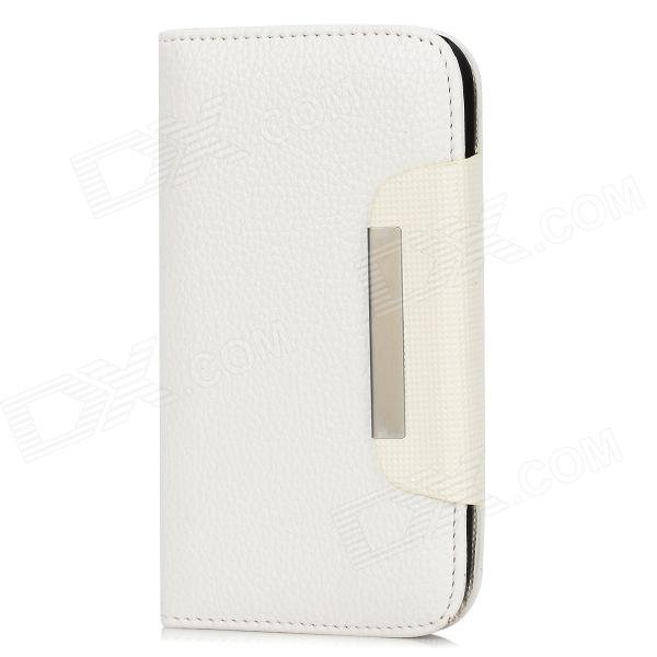 Protective PU Leather Case for Samsung Galaxy Grand Duos i9082 - White