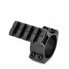 Tactical Gun Single Rail Mount for 25mm / 30mm Barrels - Black
