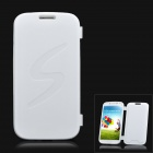 Protective Soft Plastic Flip-Open Back Case for Samsung Galaxy S4 / i9500 - White