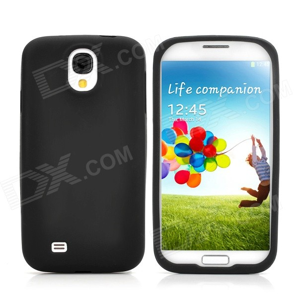 Protective Soft Silicone Back Case for Samsung i9500 - Black protective silicone case for nds black