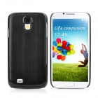 Protective Wiredrawing Aluminum Alloy Back Cover Case for Samsung Galaxy S4 / i9500 - Black