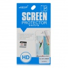 LiangJie Protective Clear PET Screen Protector Film w/ Cleaning Cloth for HTC X920e - Transparent