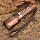 SKY EYE 300lm 5-Mode White Zooming Flashlight w/ Cree XM-L T6 - Brown + Silver (1 x 18650)