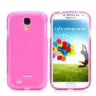 REMAX S4_P Protective Back Case w/ Screen Protector for Samsung Galaxy S4 - Translucent Pink