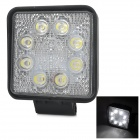 Highlight 24W 1560lm Flood Beam 60 grados 8-LED luz de trabajo de luz blanca de trabajo - (DC 10 ~ 30V)
