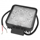 Highlight 24W 1560lm Flood Beam 60 Degree 8-LED White Light Car Working Light - (DC 10~30V)