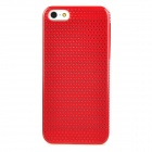 Classic Reticular Plastic Back Case for iPhone 5 - Red