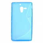 Protective TPU Back Case for Sony Xperia ZL / LT35h / L35H - Blue