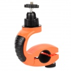 Plastic Outdoor Bicycle Holder Mount for Sport Digital Camera - Orange + Black