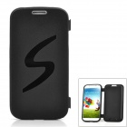Protective Soft Plastic Flip-Open Case for Samsung Galaxy S4 / i9500 - Black