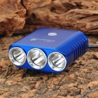 UltraFire H-3WYS Cree XM-L T6 + 2 x XP-G R5 1000lm 5-Mode White Bicycle Light - Blue (4 x 18650)
